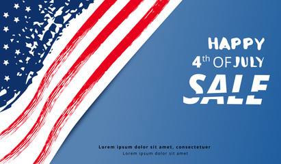Happy Independence Day Sale. Vector illustration.