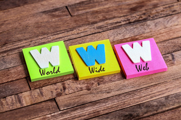 post-it acronym : WWW  world wide web