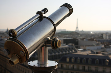 Paris viewpoint with Eiffel tower in the background