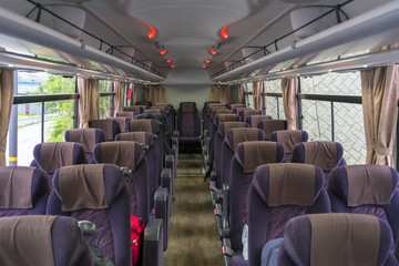 New modern comfortable tour bus service in Japan