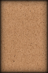High resolution photograph of recycle paper light brown coarse grain vignette grunge texture sample