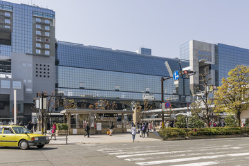 The central station of Kyoto, Japan, on a beautiful sunny day
