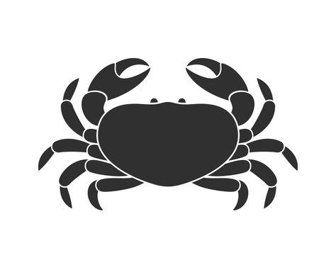 Crab logo. Isolated crab on white background