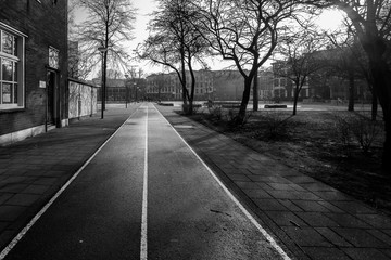 Walking the streets of Rotterdam in black and white