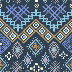 Tribal art boho seamless pattern