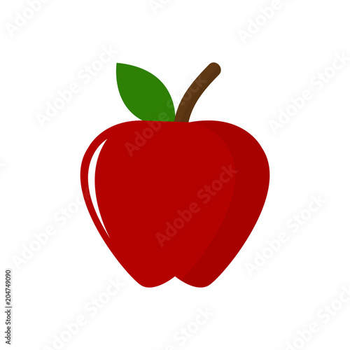 Vector Apple Illustration Isolated Healthy Fresh Fruit Symbol