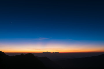 Dawn sky background