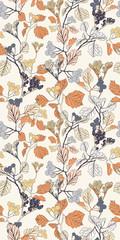 Ditsy Flower Seamless Vector Botanical Pattern