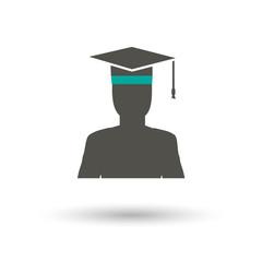 Graduate icon vector illustration.