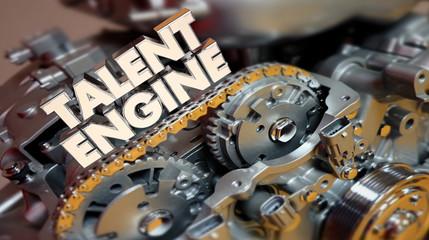Talent Engine Skills Experience Training 3d Render Illustration