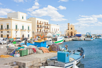 Gallipoli, Apulia - Fishing boats at the seaport of Gallipoli