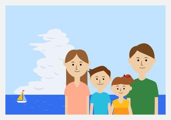 家族写真 イラスト