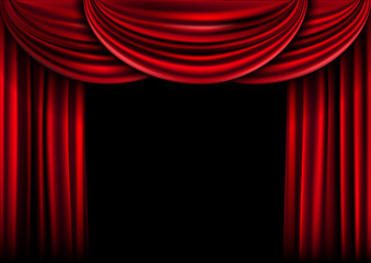Background  curtain stage.
