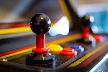 Joystick of a vintage arcade videogame - Coin-Op