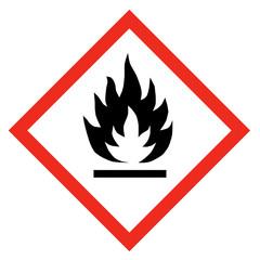 GHS Symbol Entzündlich nach REACH Verordnung