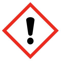 GHS Symbol Gefahr, Reizend nach REACH Verordnung