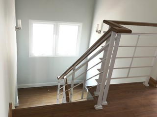 Modern home interior stairs