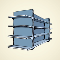 Store rack. Vector drawing