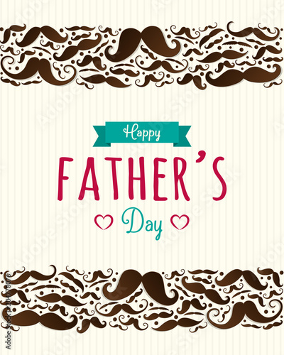 happy father s day cute poster with mustaches vector fotolia com