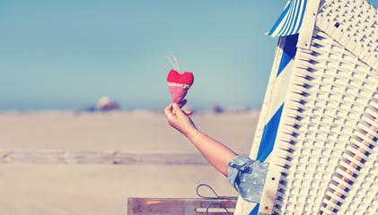 Freiheit und Auszeit am Strand