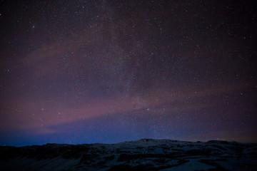Die Milchstraße über Island