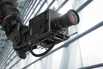 black robotic camera