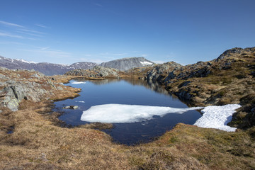 Mountain hike to Mofjellet