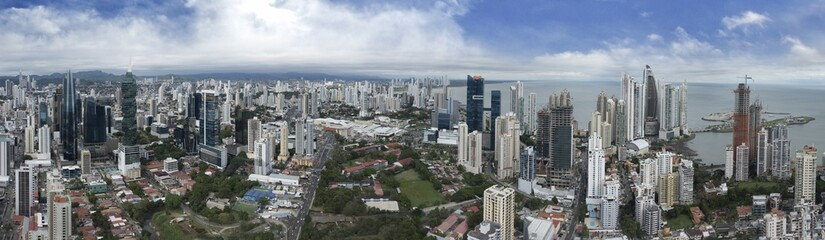 Fotomurales - Panoramic view of Panama City Skyline