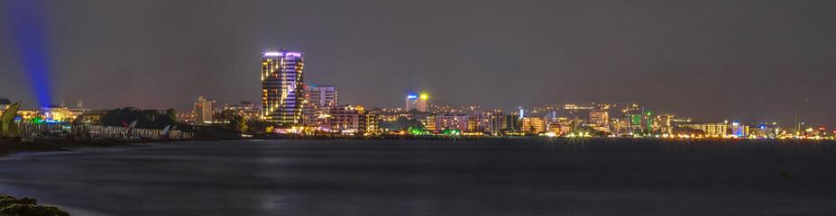 coast of the night city, Sunny beach, Bulgaria
