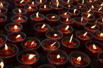 Buddha prayer candle light and peace