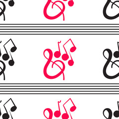 A wonderful musical pattern on a white background