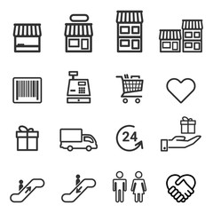 Supermarket And Shopping Icon