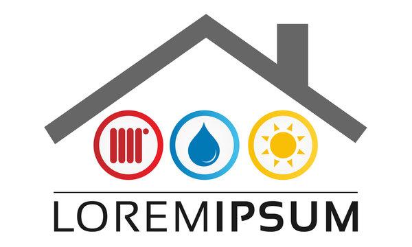 Sanitary Heating Heizung Sanitär Logo