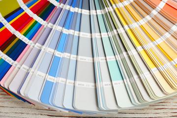 Color palette samples, closeup