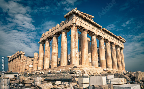 Fototapete Parthenon on the Acropolis of Athens, Greece