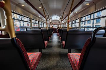 Foto op Aluminium Londen rode bus inside the red bus in London