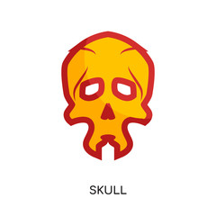 skull logo isolated on white background