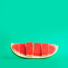 Fruits and summer concept idea with watermelon in colorful color