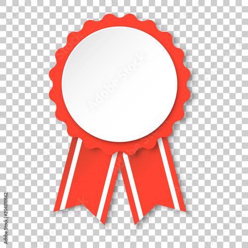 Award ribbon icon  Medal badge illustration on isolated transparent