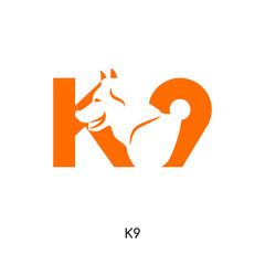 k9 logo isolated on white background