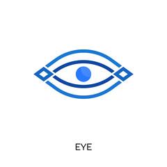 eye logo isolated on white background