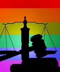 LGBTQ colors justice concept