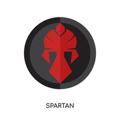 spartan logo isolated on white background