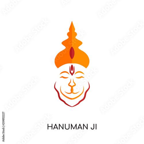 3753ecbf5 hanuman ji logo isolated on white background