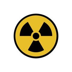 Vector illustration. Radioactive hazard. Round sign of radioactivity. Safe sign.