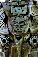 Abstract metal texture. From old metal parts of engines