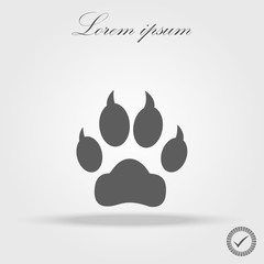 Paw Prints. Logo. Vector Illustration. Isolated vector Illustration. Black on White background