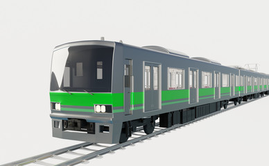 電車イメージ 白バック
