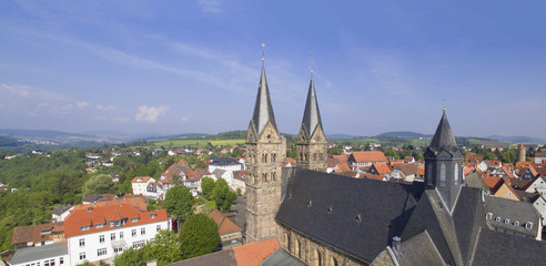 Aerial view on Fritzlar