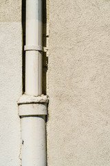 Drainpipe on house wall